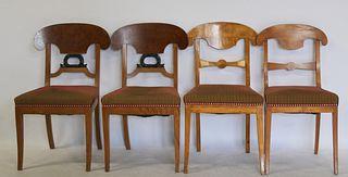 2 pairs Of Biedermeier Chairs .