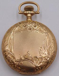 JEWELRY. Hamilton 14kt Gold Pocket Watch.