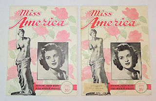 Two 1945 Miss America Pageant Programs