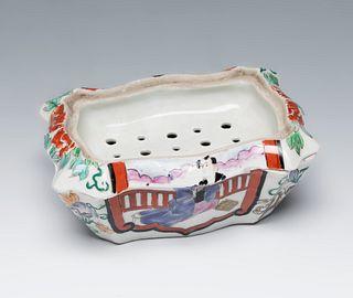 Soap holder. Japan, 20th century. Porcelain.