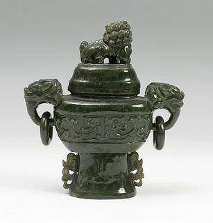 Perfumer China, 19th century Jade Nephrite