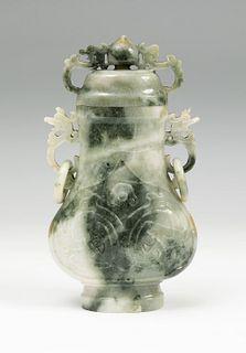 Perfumer China, early 20th century. Jade veined-hard stone.