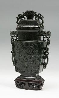 Perfumer China, early 20th century. Jade Nephrite
