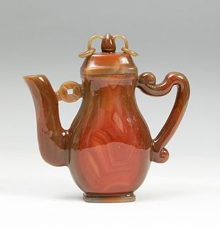 Tea kettle. China, 19th century. Carnelian