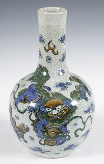 Vase. China, 19th century. Porcelain with crackle.