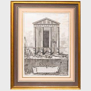Giovanni Battista Piranesi (1720-1778): Elevazione Ortographica del Tempio d'Ercole; and Portico del Pantheon