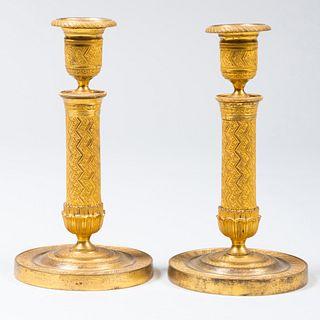 Pair of Charles X Ormolu Candlesticks