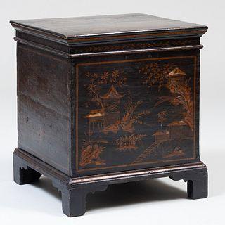 George III Style Black Japanned Cellarette