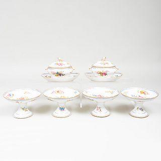 Sèvres Style Porcelain Part Dessert Service