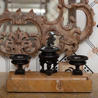 Regency Bronze-Mounted Siena Marble Desk Stand, Attributed to Benjamin Lewis Vulliamy