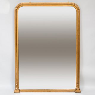 Large Victorian Oil Gilded Mirror