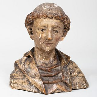 Small Netherlandish Polychrome Bust