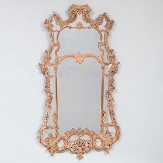 Pair of George III Style Giltwood Mirrors