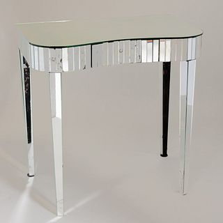 Modern Mirrored Console Table