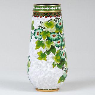 Chinese Cloisonne Enamel Vase