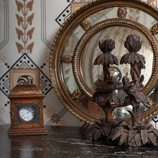 Pair of Black Forest Candlesticks