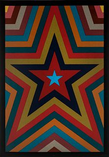 SOL LEWITT (United States, 1928 - 2007). Untitled, from the Olympic Centennial Suite, 1992. Silkscreen on 270 gr Velin d'Arches paper, 109/250. Signed