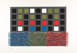 JESÚS RAFAEL SOTO (Venezuela, 1923 - France, 2005). Untitled, ca. 1992, from the Olympic Centennial Suite. Serigraph on Vélin d'Arches paper, 108/250.