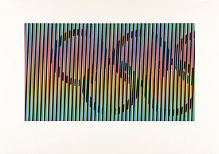 CARLOS CRUZ DÍEZ (Caracas, 1923-2019). Untitled, 1992, from the Olympic Centennial Suite. Silkscreen on Vélin d'Arches paper of 270 grams, issue 109/2