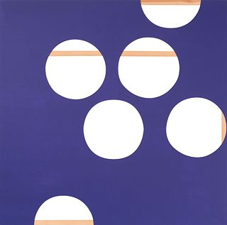 "BERTA JAYO (Santander, 1971). ""Purple canvas with holes"", 2003. Mixed technique on canvas."
