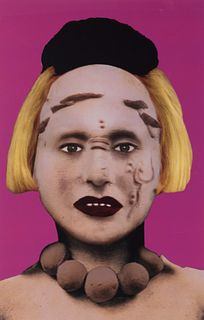 """ORLAN (Saint-Étienne, France, 1947). """"Disfiguration-Refiguration, Pre-Columbian Self-hybridizations, No. 21"""", 1999. Photography. Issue 3/7. Work repro"""