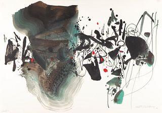CHU TEH-CHUN (Baitou Zhen, Jiangsu, China, 1920-2014). Untitled, from the Olympic Centennial Suite, 1992. Lithograph on 270 grams Vélin d'Arches paper