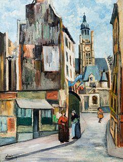 """ELISÉE MACLET (Lyons-en-Santerre, 1881 - Paris 1962). """"Church of Saint-Étienne-du-Mont"""", Paris, 1919. Oil on canvas. Signed and dated in the lower lef"""