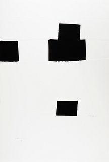 EDUARDO CHILLIDA JUANTEGUI (San Sebastián, 1924 - 2002). Untitled, from the Olympic Centennial Suite, 1992. Serigraph with relief on Vélin d'Arches pa