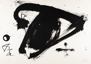 ANTONI TÀPIES PUIG (Barcelona, 1923 - 2012). Untitled, from the Olympic Centennial Suite, 1992. Lithograph on Vélin d'Arches paper of 270 grams, 109/2
