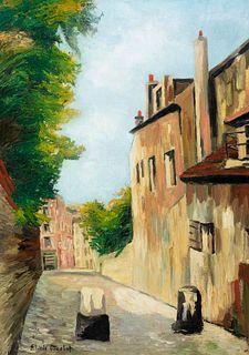 "ELISÉE MACLET (Lyons-en-Santerre, 1881 - Paris 1962). ""Montmartre Street"". Oil on canvas. Signed in the lower left corner."