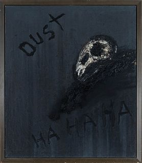 """VICTOR MIRA (Zaragoza, 1949 - Munich, 2003). """"Dust"""", 1992. Oil and glass resin on canvas. Signed, dated and titled on the back."""