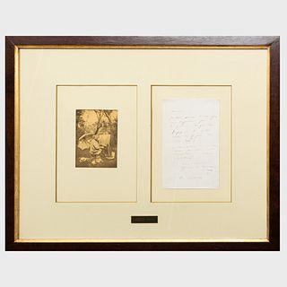 Camille Jean-Baptiste Corot (1796-1875): Autograph Letter
