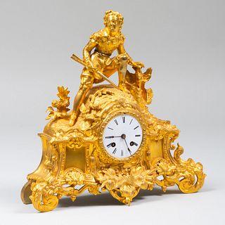 Napoleon III Ormolu Figural Clock