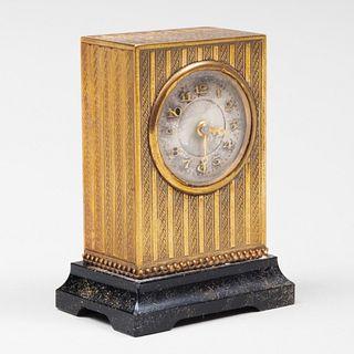 Miniature Gilt Table Clock