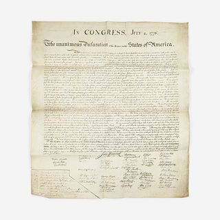 [Stone, William J.] In Congress, July 4, 1776. The unanimous Declaration of the thirteen united States of America
