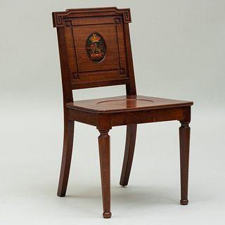 English Mahogany and Painted Hall Chair