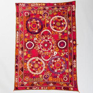 Embroidered Suzani Panel