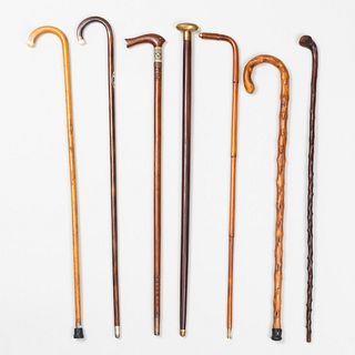 Group of Seven Walking Sticks