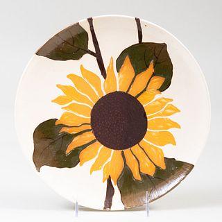 Wedgwood Creamware Sunflower Charger