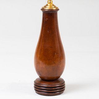 Small Mahogany Table Lamp