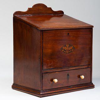 English Inlaid Mahogany Correspondence Box