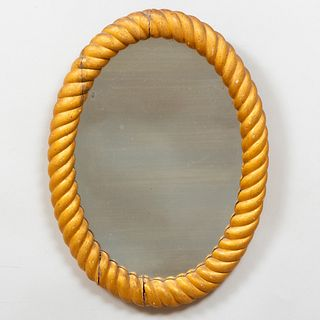 Pair of Small Giltwood Rope Twist Mirrors
