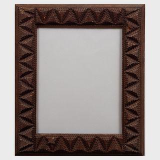 Two Wood Tramp Art Frames