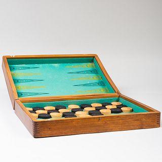 Inlaid Wood Game Board Box