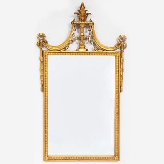 Continental Neoclassical Style Giltwood Mirror