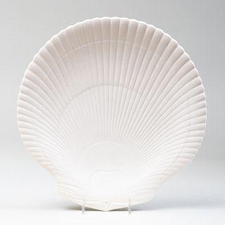 Wedgwood White Glazed Porcelain Shell Dish