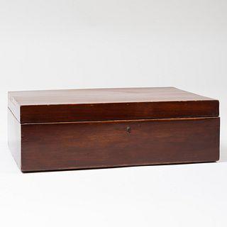 English Mahogany Jewelry Box