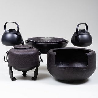 Group of Metal and Pottery Wares