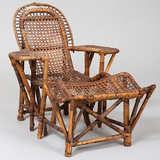 Miniature Wicker Chaise Lounge