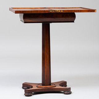 Small Victoria Inlaid Mahogany Games Table